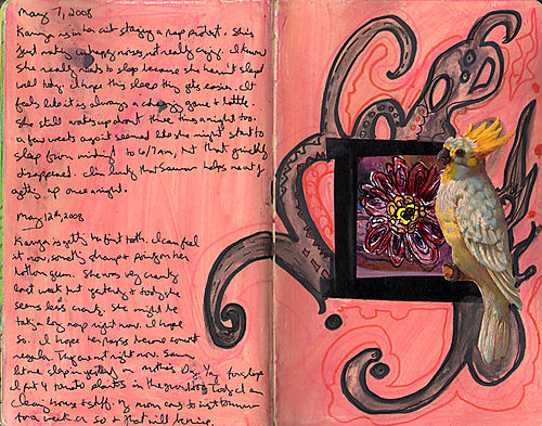 Artjournalbirdflower