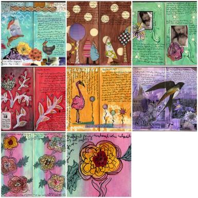 Amber Gibbs , Art Journals, Collage Art \u0026 Mixed Media